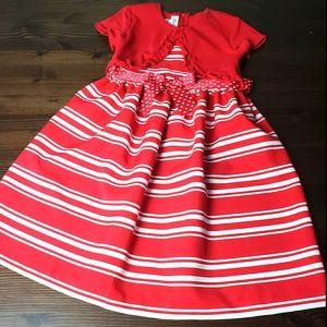 Bonnie Jean Red & white girls dress sz 6x